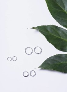 Silver mini hoops