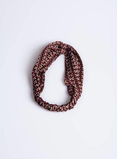 Bordeaux print haarband