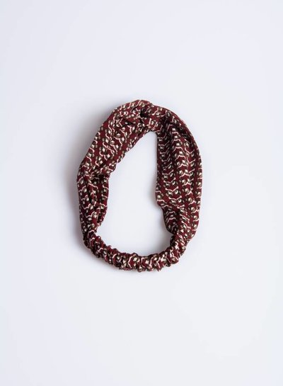 Bordeaux print hairband