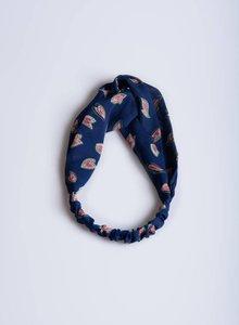 Blue print hairband