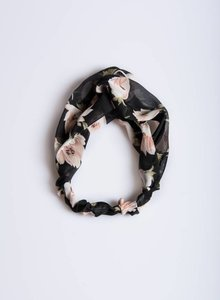 Black flower haarband