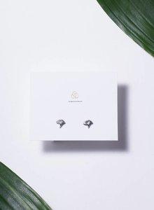 Ginko leaf earstud