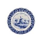 Delfts blauw bord - Molen