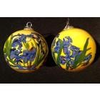 Handbeschilderde Kerstbal Irissen Van Gogh