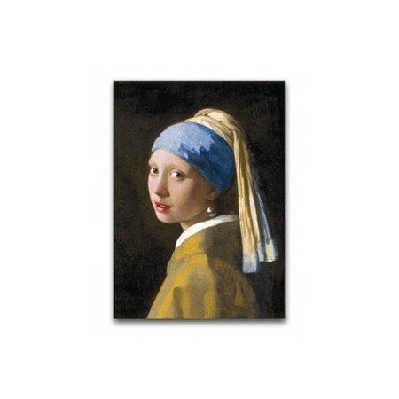 Poster Mädchen mit der Perle von Vermeer
