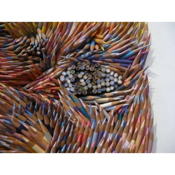 Exclusive oeuvre d'art de van Gogh par Monfils - 13.000 crayons