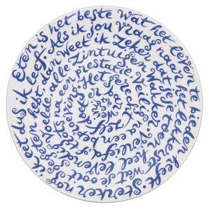 """Assiette disklus de Royal Delft dicton """"Manger"""""""