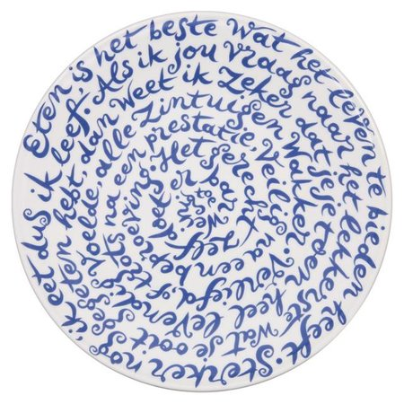 "Royal Delft diskus Schild ""Food"""