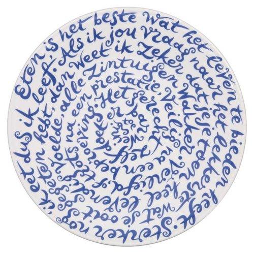 """Assiette diskus de Royal Delft dicton """"Manger"""""""