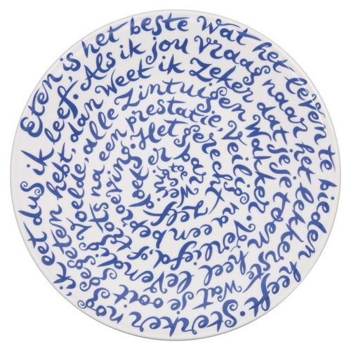 "Royal Delft diskus bord ""Eten"""
