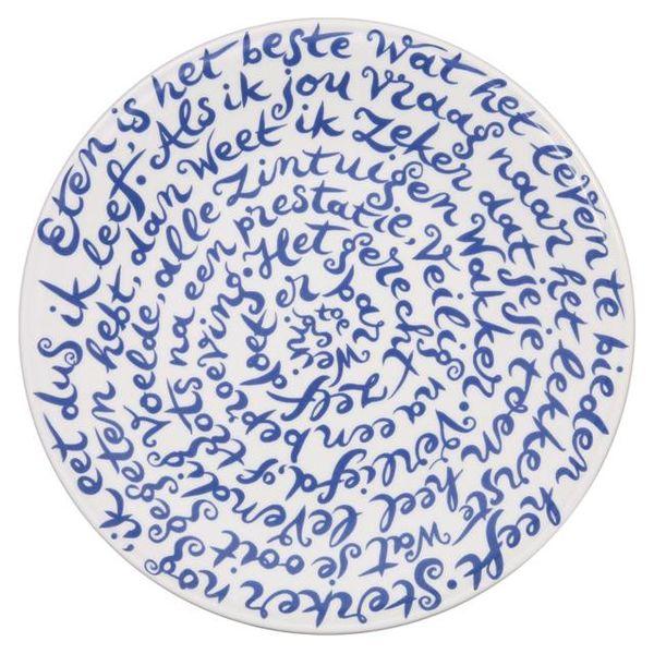"Royal Delft diskus sign ""Food"""