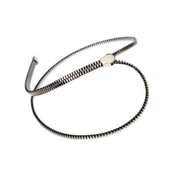 Zipper Halskette Silber