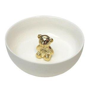 Schaal met gouden teddy