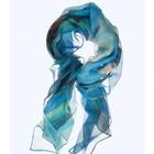 Seascape van Gogh 100% zijde sjaal