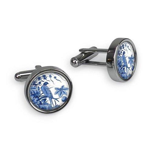 Boutons de manchette - Delft bleu