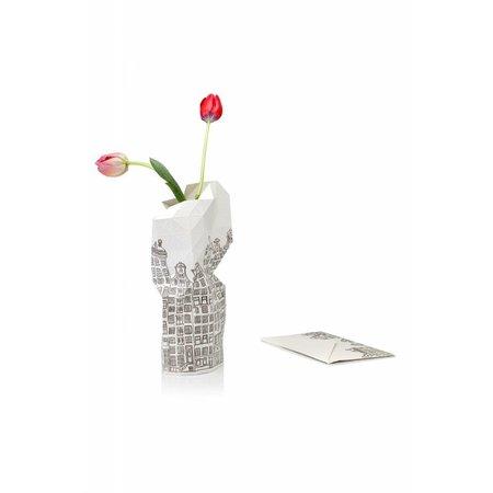 Couverture de vase en papier maison du canal
