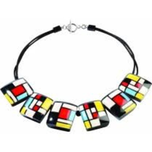 Mondrian homage necklace