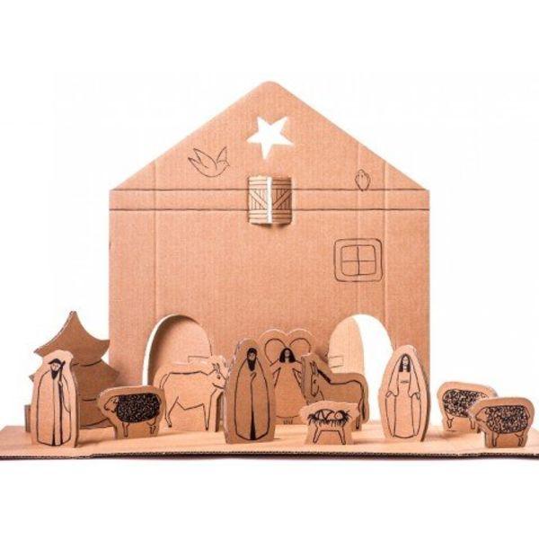 Dutch fire nativity scene