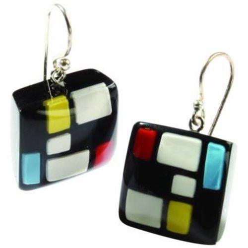 Mondriaan earrings