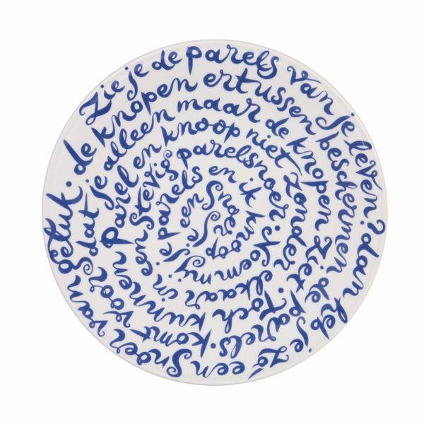 """Royal Delft diskus bord """"Geluk"""""""