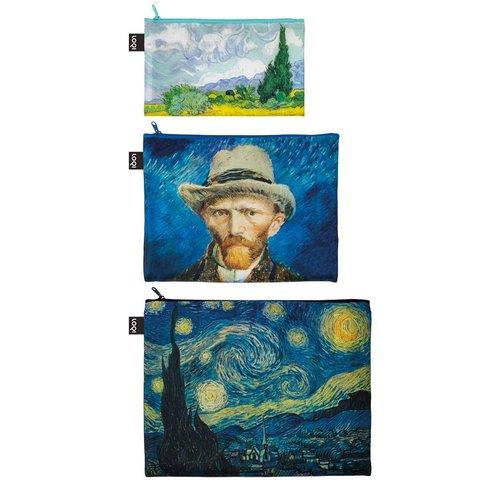 3 Reißverschlusstaschen van Gogh