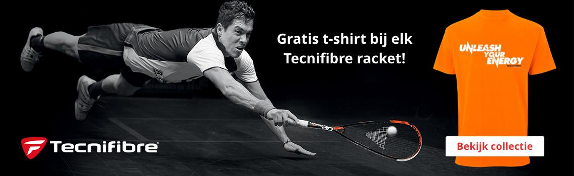 Grats t-shirt bij elk Tecnifbre racket