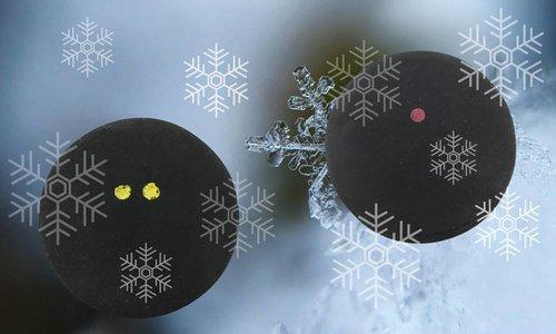 De juiste squashbal voor de koude winterdagen