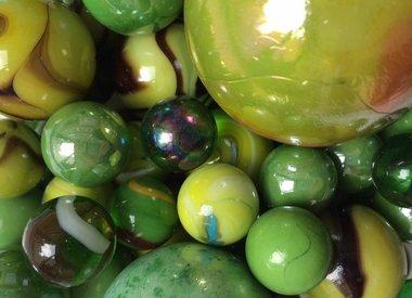 Groene knikkers
