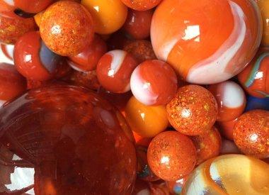 Orange Murmeln