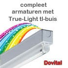 Compleet armatuur hoog frequent compleet met True Light tl-buis