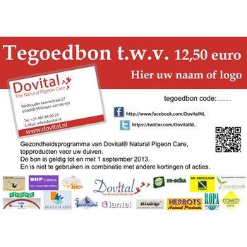 Tegoedbon 12.50 euro