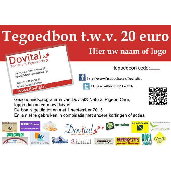 Tegoedbon 30 euro