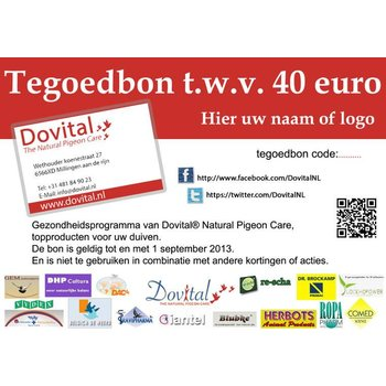 Tegoedbon 40 euro