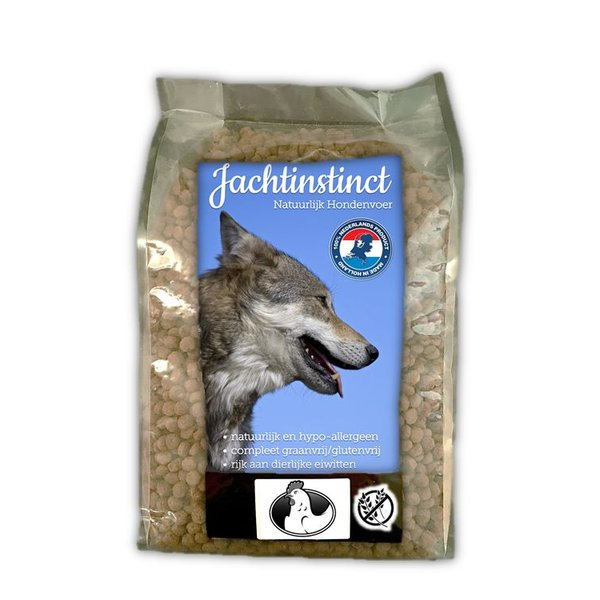 Jachtinstinct Hund Bröckchen Huhn Mais Fr 4 KG