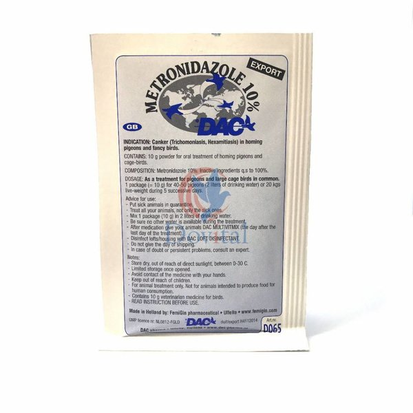Dac Pharma Metronidazole 10% (Trichomoniasis Hexamitiasis )
