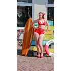 Fifties Retro Pinup Red Bikini