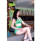 Retro Bikini Fruit Green Polka
