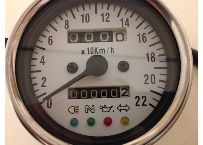 Kilometerteller + 4 extra functies Blauw Verlicht