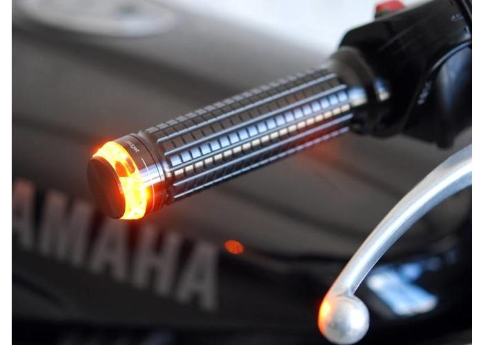 Motogadget Bar end LED knipperlicht m-Blaze Disc zwart