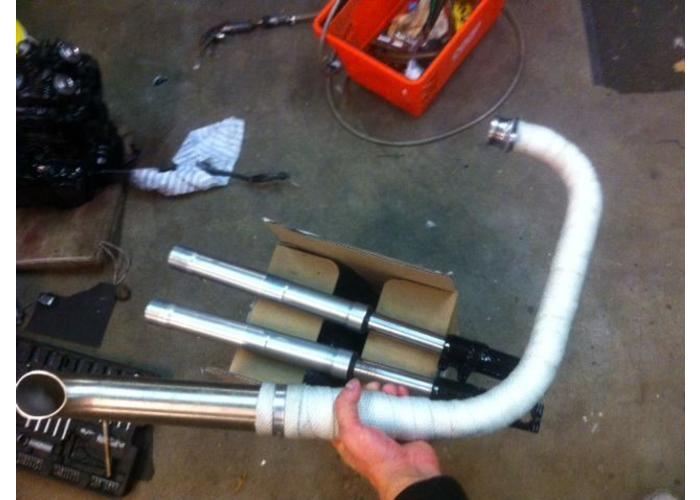 10M Uitlaat Wrap / Exhaust Wrap / Heat Wrap Wit