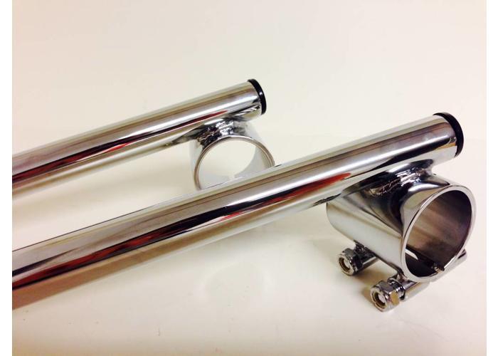"1"" / 25.4mm 41MM Chrome Clipons Triumph, BMW"
