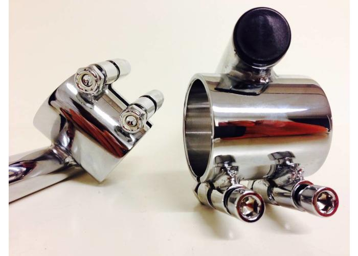 35MM Chrome Clipons Honda CB etc