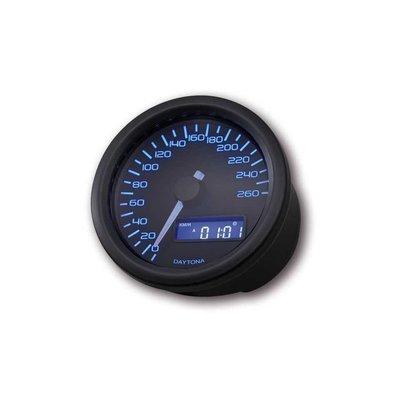 Daytona Velona Kilometerteller 260 km/h Zwart