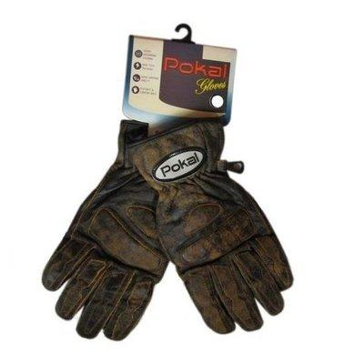 Retro Leren Handschoenen Bruin