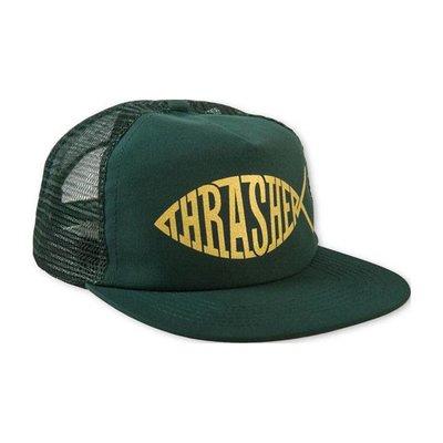 Thrasher Snapback - Fish Mesh (green)