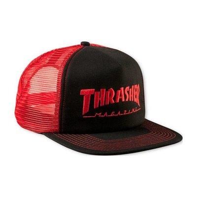 Thrasher Logo Mesh Cap - Red/Black
