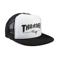 Thrasher Logo Mesh Cap - White/Black