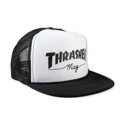 Thrasher Logo Mesh Cap - White/Black