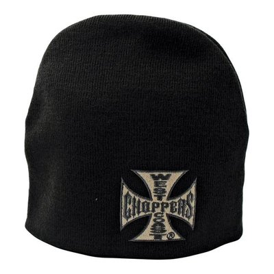 West Coast Choppers Beanie Basic Logo Dark Grey