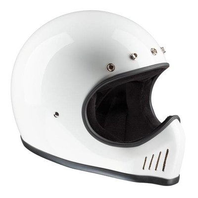 Bandit Historic Motocross Helm Wit